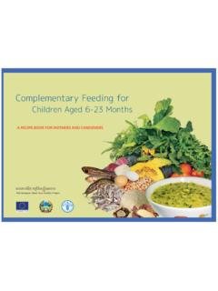 Complementary Feeding for Children Aged 6-23 …