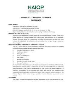 HIGH-PILED COMBUSTIBLE STORAGE GUIDELINES - Houston