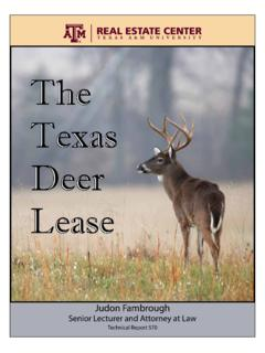The Texas Deer Lease - Texas A&M University