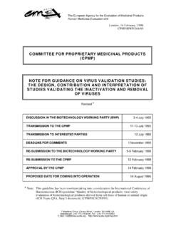 COMMITTEE FOR PROPRIETARY MEDICINAL PRODUCTS …