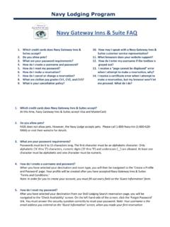 Navy Gateway Inns & Suite FAQ - DOD Lodging