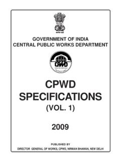 CPWD SPECIFICATIONS