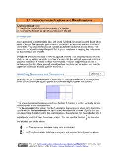 2.1.1 Introduction to Fractions and Mixed Numbers