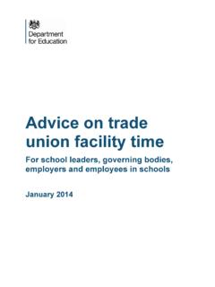 Advice on trade union facility time
