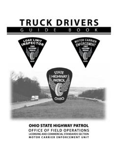 TRUCK DRIVERS - Ohio State Highway Patrol