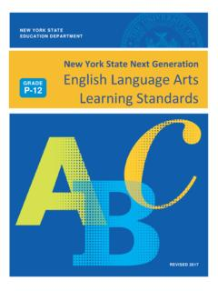 New York State Next Generation English Language Arts ...