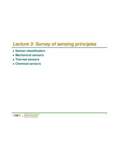 Lecture 3: Survey of sensing principles - Texas A&M University