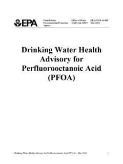 Drinking Water Health Advisory for …