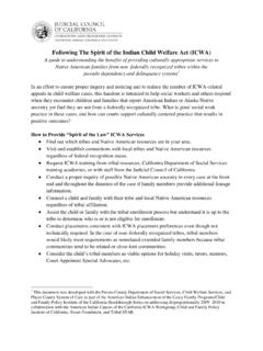 Following The Spirit of the Indian Child Welfare Act (ICWA)