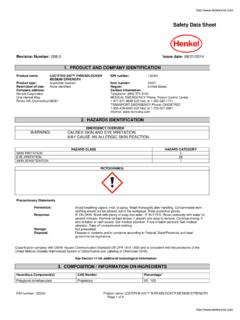 Safety Data Sheet - Techni-Tool: Industrial Supplies ...