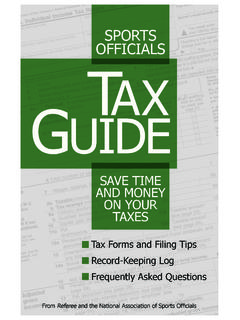 SPORTS OFFICIALS TAX GUIDE - Genesee County Coaches …