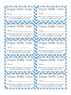 Diaper Raffle Ticket - Oh My Baby Shower