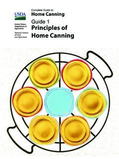 Guide 1 Principles of Home Canning