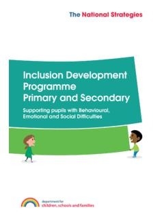 Inclusion Development Programme Primary and …