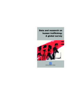 Data and Research on Human Trafficking: A Global Survey