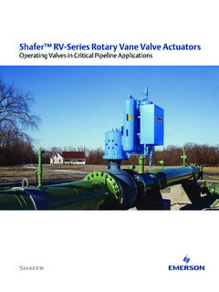 RV-Series Rotary Vane Actuators - Emerson