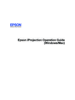 Operation Guide - Epson iProjection (Windows/Mac)