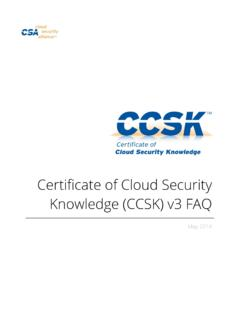 Certificate of Cloud Security Knowledge (CCSK) v3 …