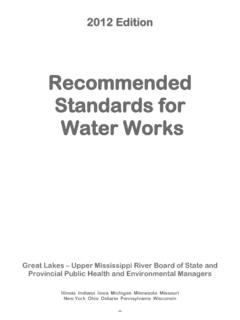 Recommended Standards for Water Works - 2012