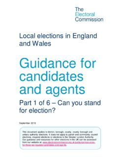 Guidance for candidates and agents - Electoral …