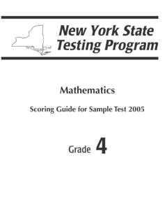 Scoring Guide for Sample Test 2005 - Regents Examinations