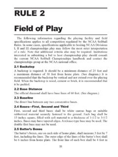 RULE 2 Field of Play - fs.ncaa.org entry page