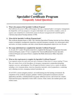 Specialist Certificate Program - California