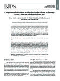Comparison of dissolution profile of extended-release oral ...