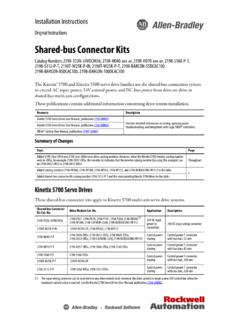 Shared-bus Connector Kits Installation Instructions