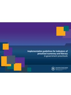 Implementation guidelines for indicators of preschool ...