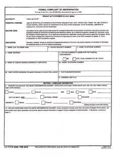 DA 2590 formal complaint form blank - EEO 21