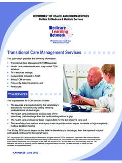 Transitional Care Management Services - Internal …