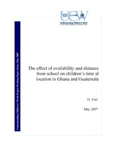 The effect of availability and distance from school on ...