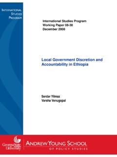 Local Government Discretion andLocal …