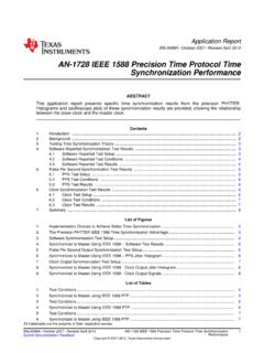 IEEE 1588 Precision Time Protocol Time …