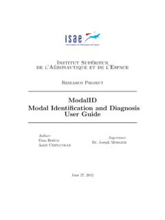 ModalID Modal Identi cation and Diagnosis User Guide