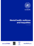 Mental health, resilience and inequalities