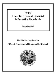 2015 Local Government Financial Information Handbook