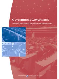 Government Governance - Corporate governance