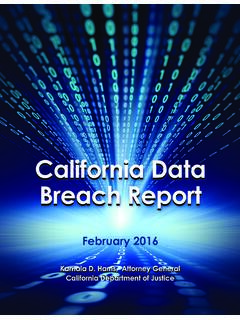 California Data Breach Report