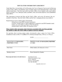 MINUTE ENTRY DISTRIBUTION AGREEMENT - Clerk of …