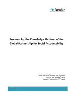 Proposal for the Knowledge Platform of the Global ...