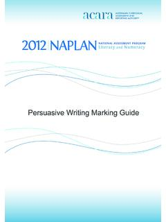 Persuasive Writing Marking Guide - NAP - Home