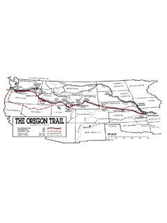 Oregon Trail Map - U.S. DEPARTMENT OF THE INTERIOR