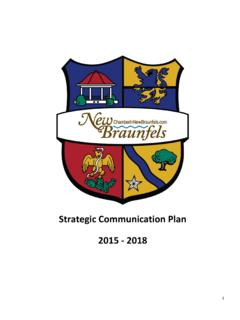 Strategic Communication Plan 2015 - 2018 - ACCE
