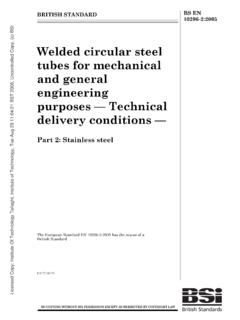 Welded circular steel tubes for mechanical and …
