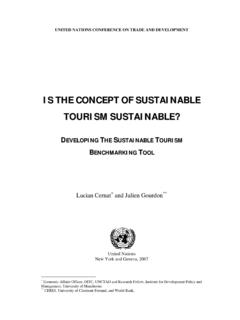 IS THE CONCEPT OF SUSTAINABLE TOURISM ... - unctad.org