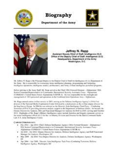 BIOGRAPHY - United States Department of Defense