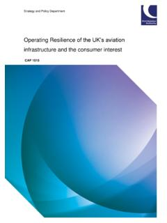 Operating Resilience of the UK's aviation