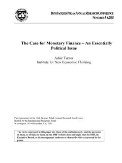 The Case for Monetary Finance – An Essentially Political Issue